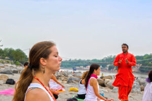 Meditation at the Ganges Ghat in Rishikesh